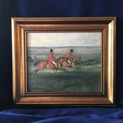 Across the Meadow Framed Canvas