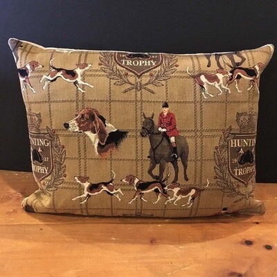 Equestrian Hunt Tapestry Pillow