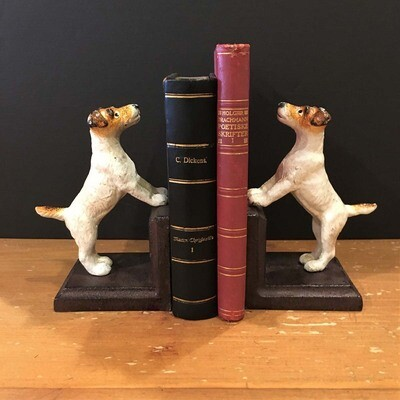 Jack Russell Bookend Set