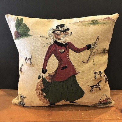 Lady Fenella Fox Tapestry Pillow