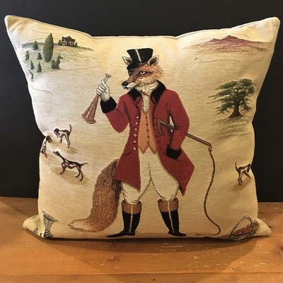 The Honorable Freddie Fox Tapestry Pillow