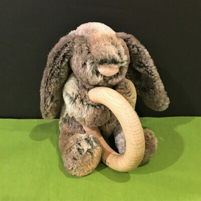 Woodland Bunny Rattle Toy