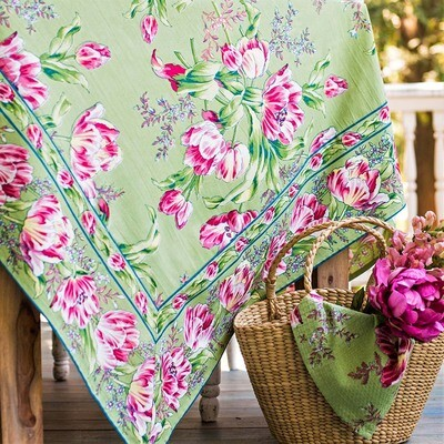 Tulip Dance Tablecloth in Green