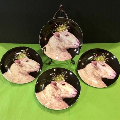 Farmhouse Sheep Appetizer/Salad Plates