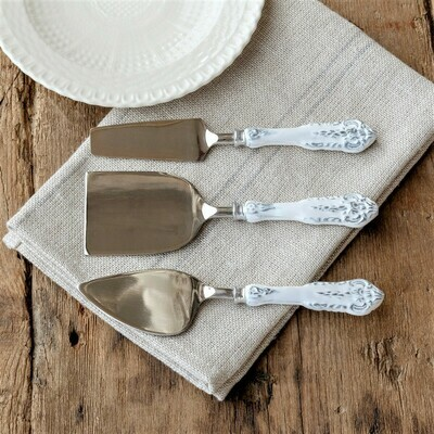 Farmhouse Embossed Cheese Serving Set