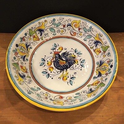 Tuscany Rooster Large Melamine Serving Bowl