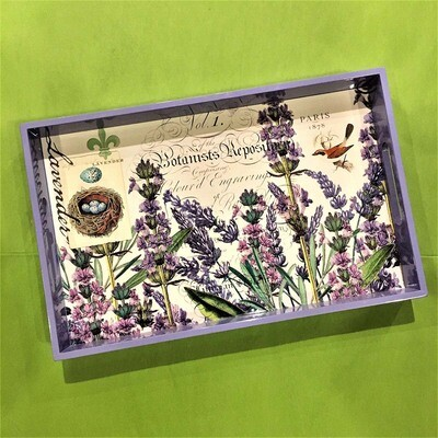 Lavender Fields Decoupage Wooden Tray