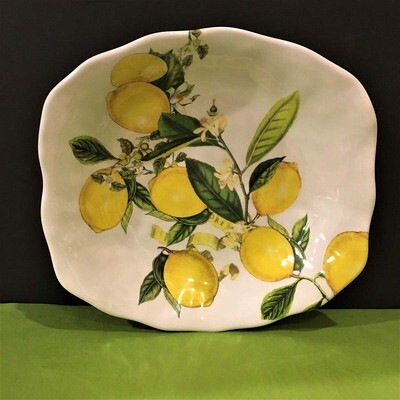 Lovely Lemons Melamine Side Dish Bowl