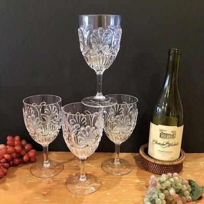 Shatter Resistant Clear Goblets