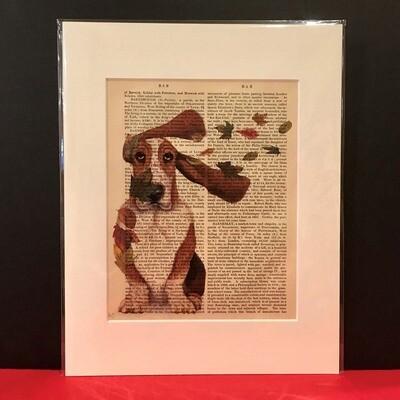 Fab Basset Hound Print
