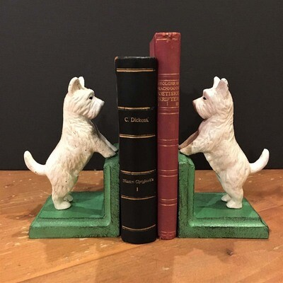 Westie Cast Iron Bookend Set