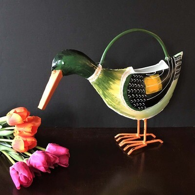Mallard Duck Metal Watering Can