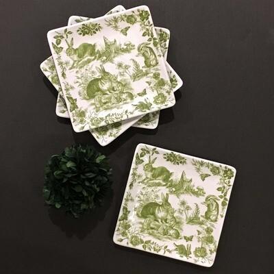 Garden Toile Melamine Salad/Appetizer Plates