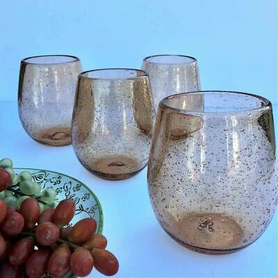 Blush Stemless Wine Glasses