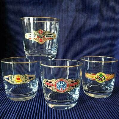 Cigar Lovers Tapered Old-Fashioned Glassware Set