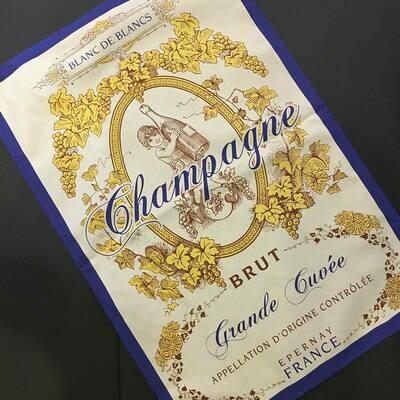 Champagne BRUT Kitchen/Tea Towel