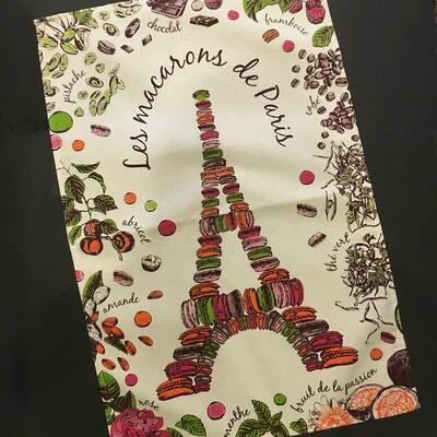 Les Macarons de Paris Kitchen/Tea Towel