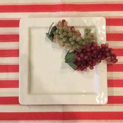White Melamine Serving Plate