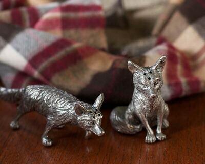 Pewter Foxes Salt & Pepper Set