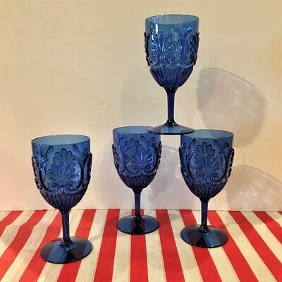 Shatter Resistant Cobalt Blue Goblets