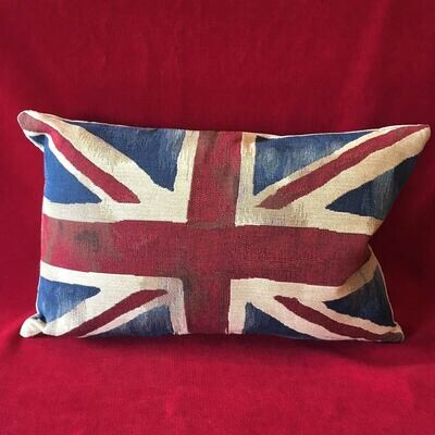 Union Jack Tapestry Pillow