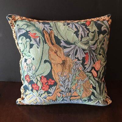 William Morris Hare Tapestry Pillow
