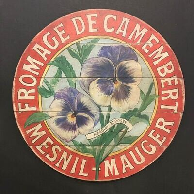 French Purple Pansies Wall Plaque