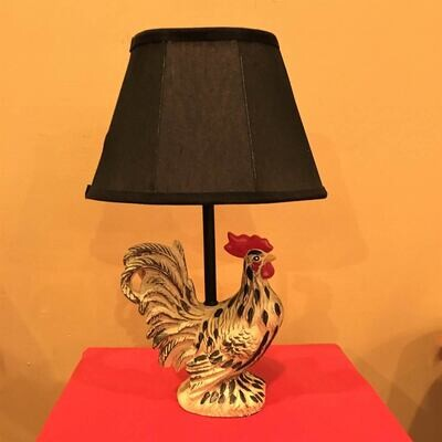 French Country Rooster Accent Lamp