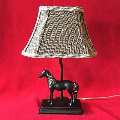 Herringbone Horse Accent Lamp