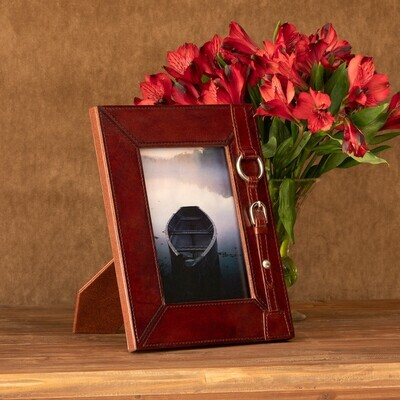 Equestrian Leather Photo Frame 5x7