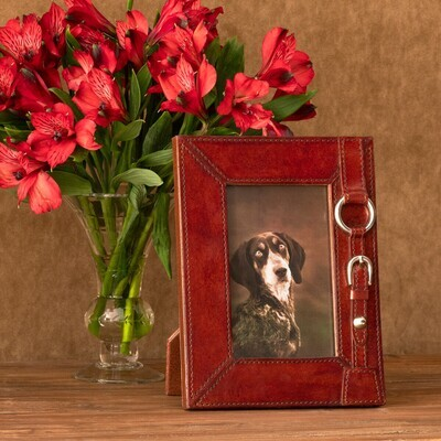 Equestrian Leather Photo Frame 4x6