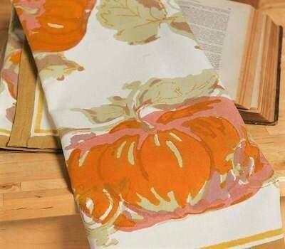 French Fall Harvest Tea Towel
