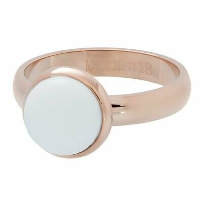 iXXXi Ring 4mm rose - 1 white stone 12 mm