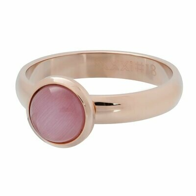 iXXXi Ring 4mm rosekleur- cateye pink stone 10 mm