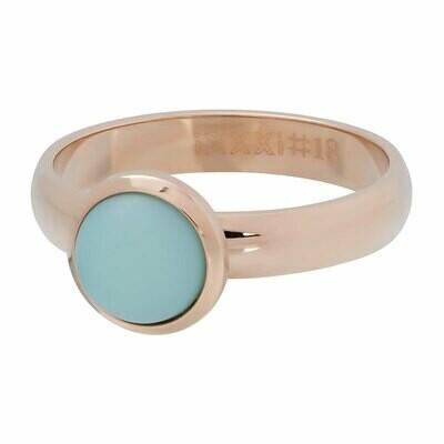 iXXXi Ring 4mm rosekleur - mat green stone 10 mm