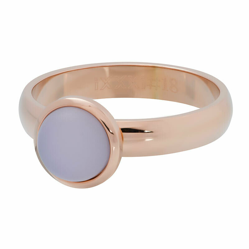 iXXXi Ring 4mm rosekleur - mat pink stone 10 mm