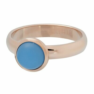 iXXXi Ring 4mm rosekleur - matt violet stone 10 mm