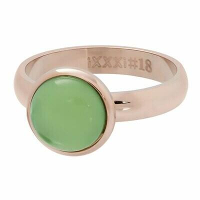 iXXXi Ring 4mm rosekleur - green stone 12 mm