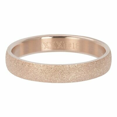 iXXXi Ring 4mm rosekleur - sandblasted