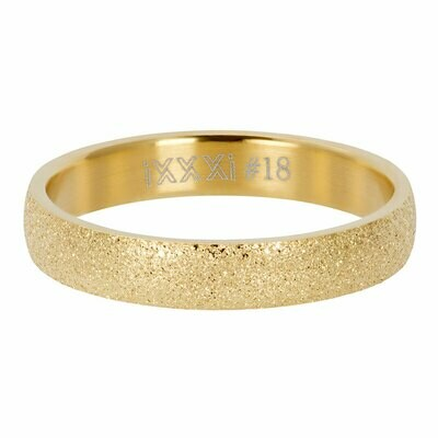iXXXi Ring 4mm goudkleur - sandblasted