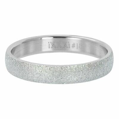 iXXXi Ring 4mm zilverkleur - sandblasted