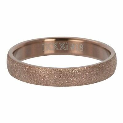iXXXi Ring 4mm bruin - sandblasted