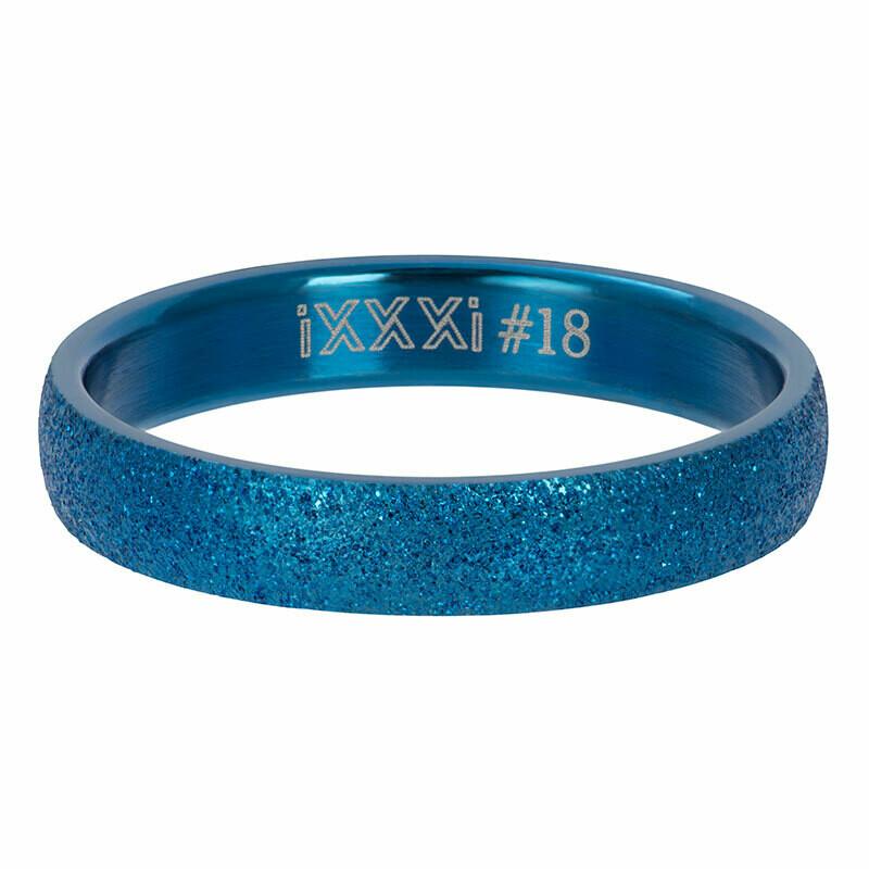 iXXXi Ring 4mm blauw - sandblasted