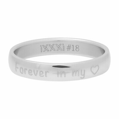 iXXXi Ring 4mm tekstring zilverkleur