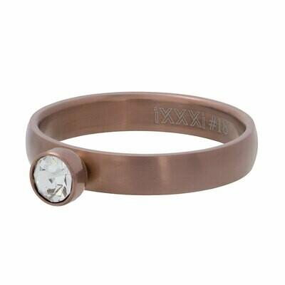 iXXXi Ring 4mm - zirconia 1 stone crystal bruin