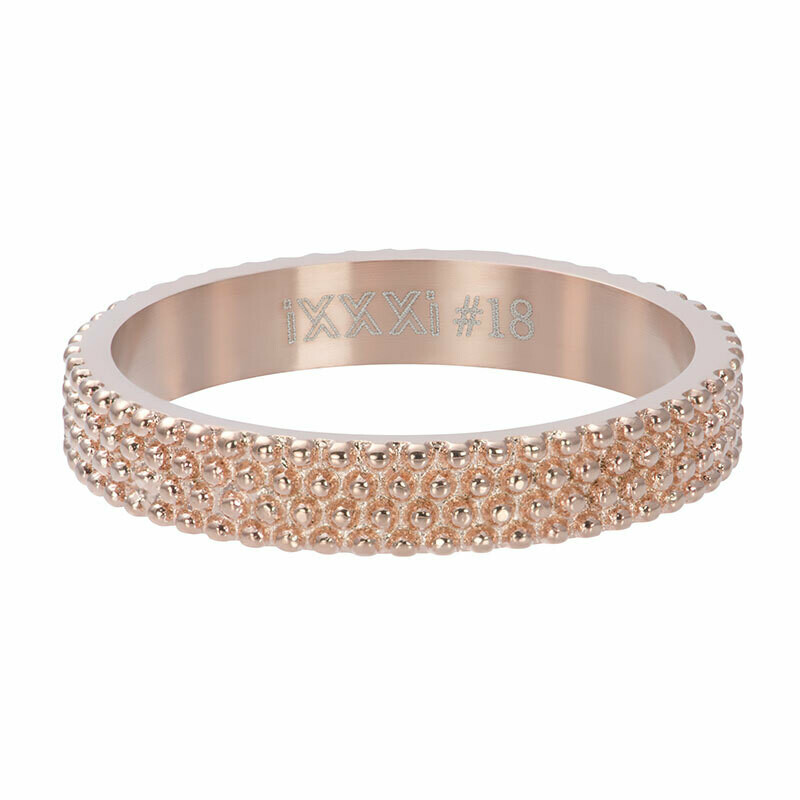 iXXXi Ring 4mm rosekleur - Caviar