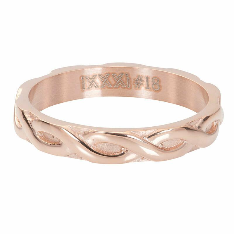 iXXXi Ring 4mm rosekleur - Braided