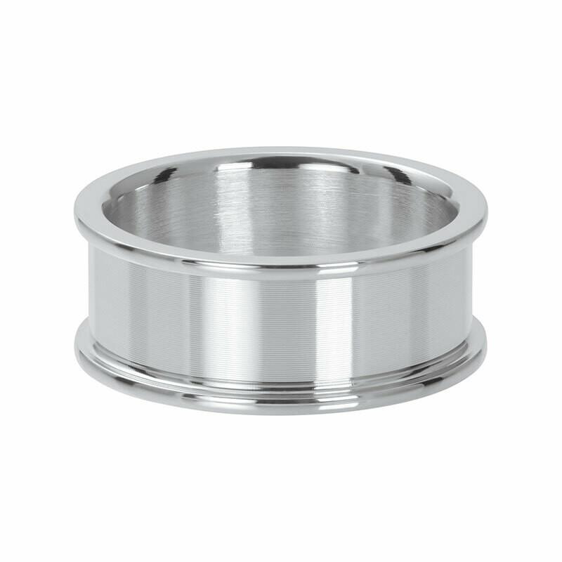 iXXXi basisring  - 8 mm zilverkleur