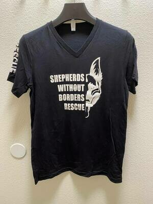 SWB Supporter V-Neck Shirt (Black) - Medium