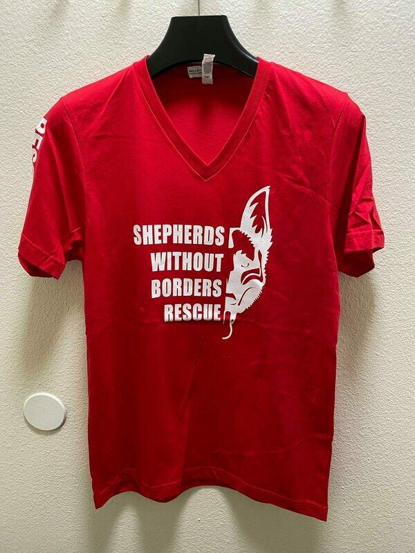 SWB Supporter V-Neck Shirt (Red) - Small